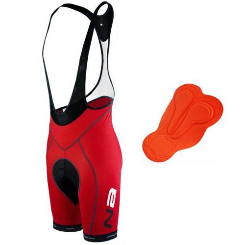 Nalini Light Bib Short 1 with Series 3D-80 AR - Red - Classic Cycling