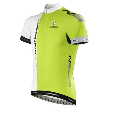 Nalini Light Compression Ti Jersey - White Lime - Classic Cycling