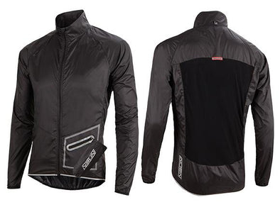 Nalini Light Packable Wind Jacket - Black - Classic Cycling