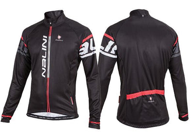 Nalini Logo Ti Long Sleeve Jersey - Black-Red - Classic Cycling