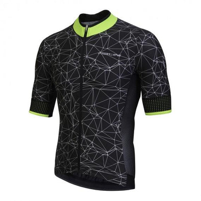 Nalini Naranco Short Sleeve Jersey - Black Fluo - Classic Cycling