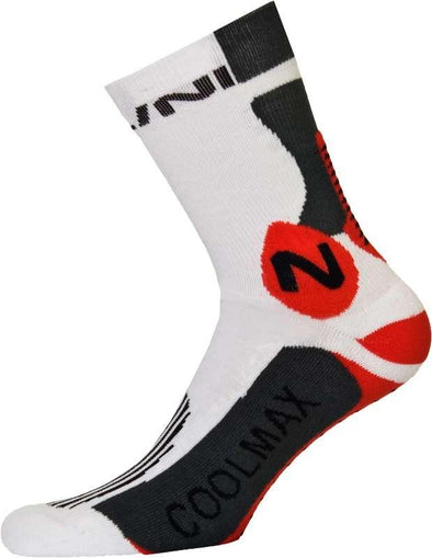 Nalini Podagria Socks - White-Red - Classic Cycling