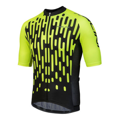 Nalini Podio Short Sleeve Jersey - Yellow-Black - Classic Cycling