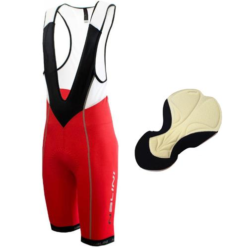 Nalini Scirpus 1 Bib Shorts with PTN HF TRAF Pad - Red - Classic Cycling