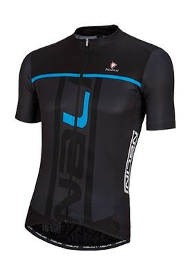 Nalini Speed Short Sleeve Jersey - Black-Blue - Classic Cycling