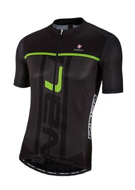 Nalini Speed Short Sleeve Jersey - Black-Green - Classic Cycling
