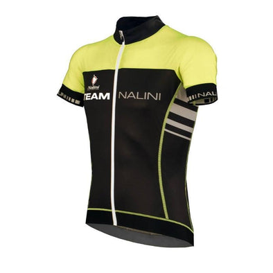 Nalini Team Fluo Ti Short Sleeve Jersey - Black Lime - Classic Cycling