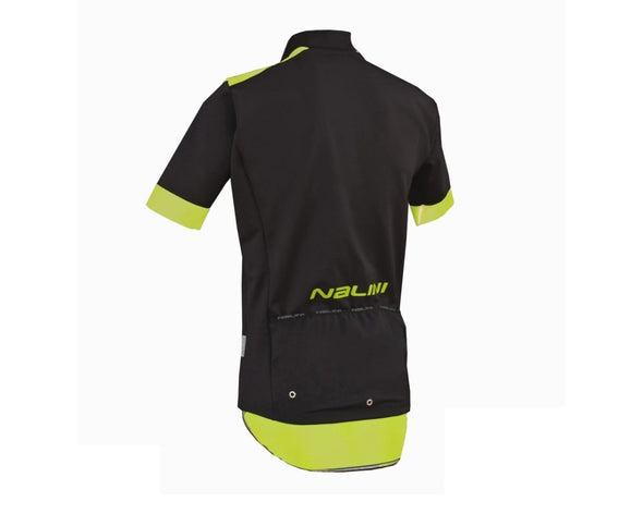 Nalini Wind Ti Windproof Short Sleeve Jersey - Black Lime - Classic Cycling