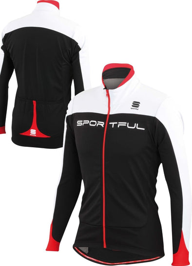 Sportful Flash SoftShell Jacket  -  black-white-red - Classic Cycling