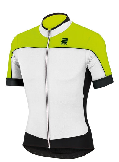 Sportful Giau Cycling Jersey - White - Fluo - Classic Cycling