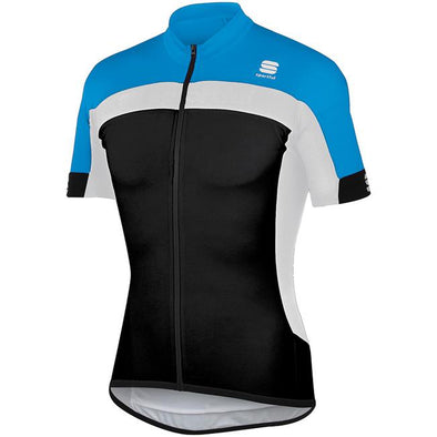 Sportful Pista Cycling Jersey - Cyan Black - Classic Cycling