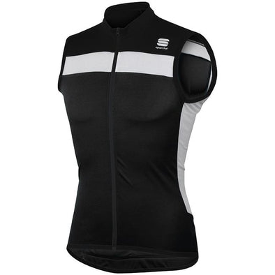 Sportful Pista Sleeveless Cycling Jersey - Black White - Classic Cycling