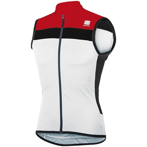 Sportful Pista Sleeveless Cycling Jersey - Red White - Classic Cycling