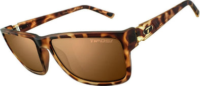 Tifosi Hagen XL Sun Glasses - Matte Tortoise w- Brown Polarized Lenses - Classic Cycling
