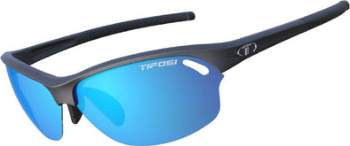 Tifosi Wasp Sun Glasses- Matte Black w- Clarion Blue, AC Red and Clear Lenses - Classic Cycling