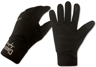 Winter Windproof Sport Fleece Gloves - Black - Classic Cycling