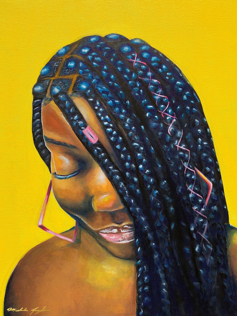 Box Braid Babe Print-Prints-DrawnLovely