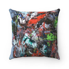 Load image into Gallery viewer, Square Pillow - Motion - Liyri Art