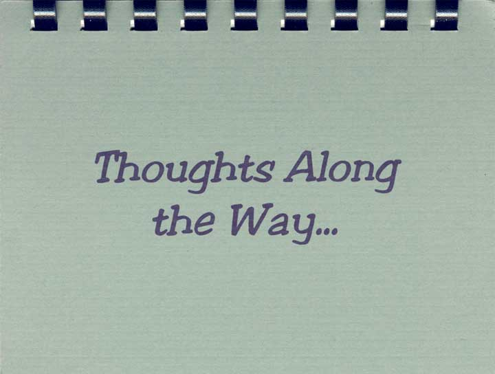 Thoughts Along the Way...