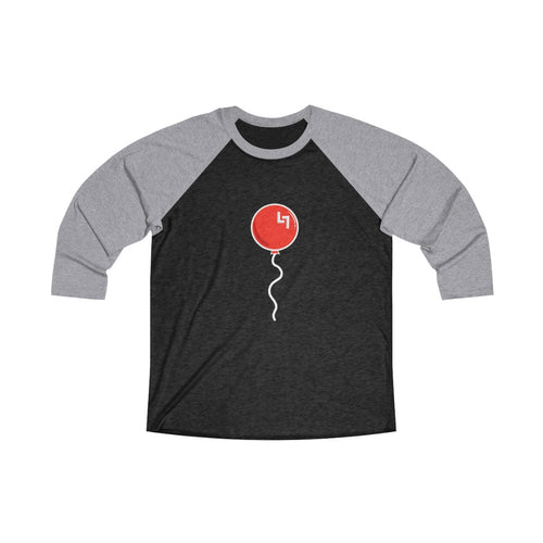 OFFICIAL LOW LIFE RED BALLOON Unisex Tri-Blend 3/4 Raglan Tee