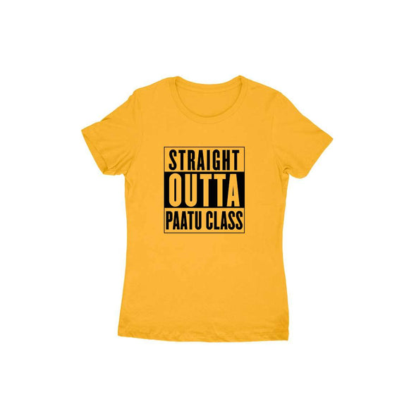 Straight Outta Paatu Class (Black Text) t-shirt - Women - Madras Merch Market