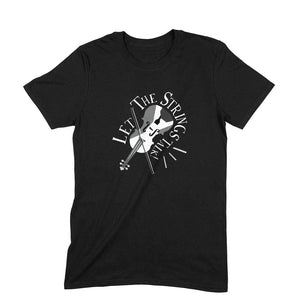 Let the Strings Talk Black and White t-shirt - Unisex - Madras Merch Market