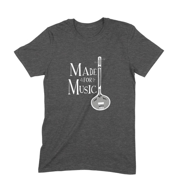 Made for Music Black and White T-shirt - Unisex - Madras Merch Market
