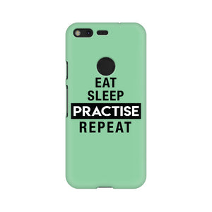 Eat Sleep Practise Repeat Phone Cover - Green (Google Pixel, Sony Xperia, Oppo, Moto, Nokia, Huawei Honor and Xiaomi Redmi) - Madras Merch Market