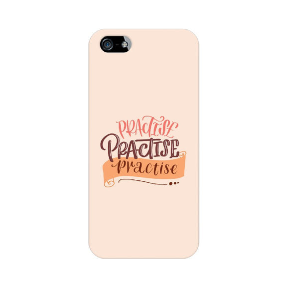 Practise Practise Practise Phone Cover (Peach) (Apple, Samsung, Vivo and OnePlus) - Madras Merch Market