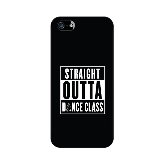 Straight Outta Dance Class Phone Cover (White text) (Apple, Samsung, Vivo and OnePlus) - Madras Merch Market