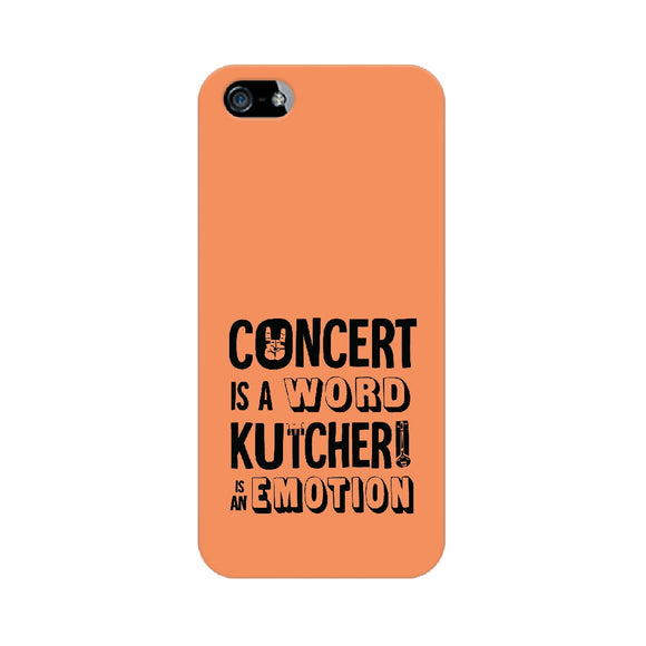 Concert is a Word Kutcheri is an Emotion Phone Cover (Orange) (Apple, Samsung, Vivo and OnePlus) - Madras Merch Market