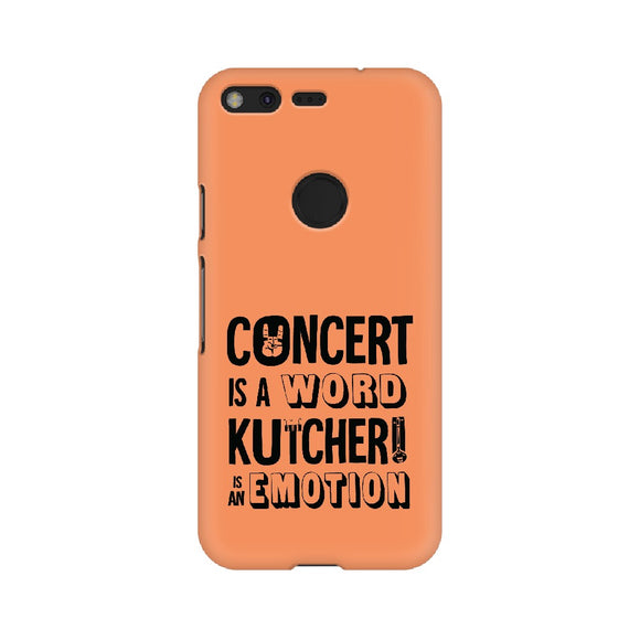 Concert is a Word Kutcheri is an Emotion Phone Cover (Orange) (Google Pixel, Sony Xperia, Oppo, Moto, Nokia, Huawei Honor and Xiaomi Redmi) - Madras Merch Market