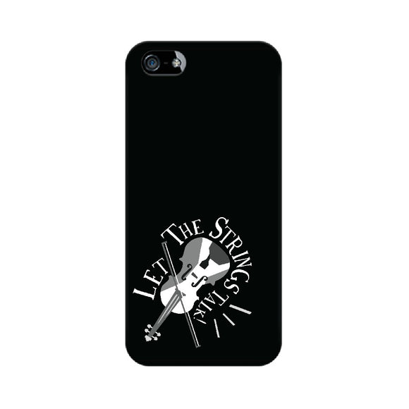 Let the Strings Talk Black and White Phone Cover (Apple, Samsung, Vivo and OnePlus) - Madras Merch Market