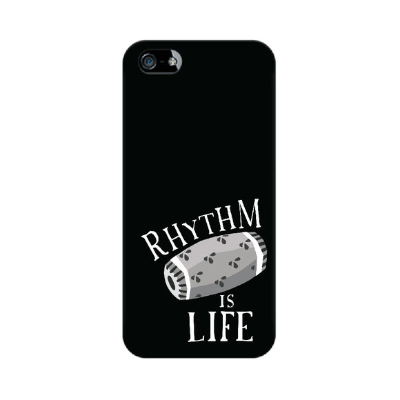 Rhythm is Life Black and White Phone Cover (Apple, Samsung, Vivo and OnePlus) - Madras Merch Market