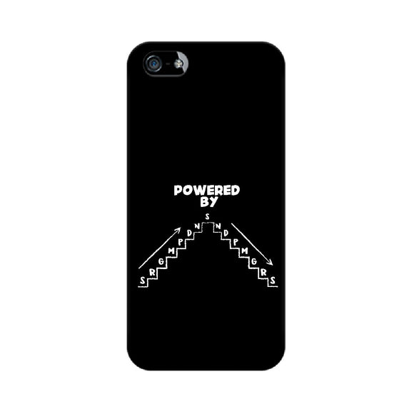 Powered By SRGMPDNS Phone Cover (White Text) (Apple, Samsung, Vivo and OnePlus) - Madras Merch Market