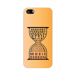 Music Season Hourglass Phone cover (Black Text) (Apple, Samsung, Vivo and OnePlus) - Madras Merch Market