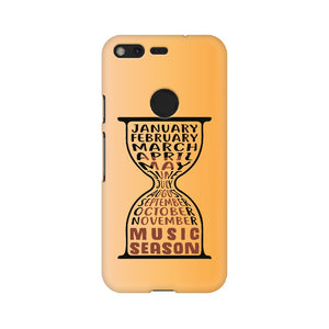 Music Season Hourglass Phone Cover (Black Text) (Google Pixel, Oppo, Sony Xperia, Nokia, Huawei Honor, Moto and Xiaomi Redmi)) - Madras Merch Market
