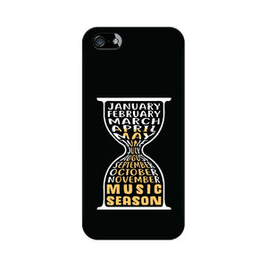 Music Season Hourglass Phone cover (White Text) (Apple, Samsung, Vivo and OnePlus) - Madras Merch Market