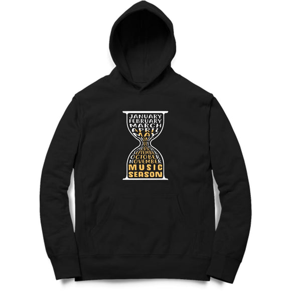 Music Season Hourglass Hoodie - Unisex - Madras Merch Market
