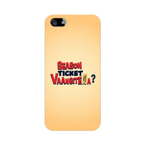 Season Ticket Vaangitela Phone Cover (Apple, Samsung, Vivo and OnePlus) - Madras Merch Market