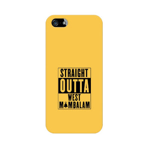 Straight Outta West Mambalam Phone Cover (Black Text) (Apple, Samsung, Vivo and OnePlus) - Madras Merch Market