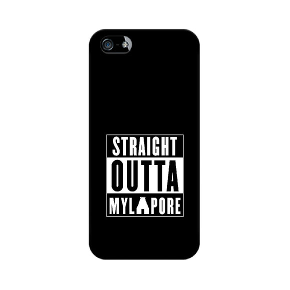 Straight Outta Mylapore Phone Cover (White text) (Apple, Samsung, Vivo and OnePlus) - Madras Merch Market
