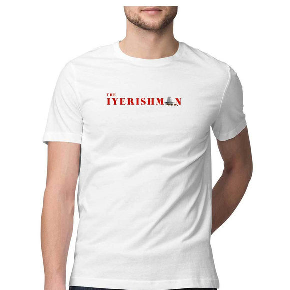 Iyerishman T-shirt (Red Text) - Unisex - Madras Merch Market