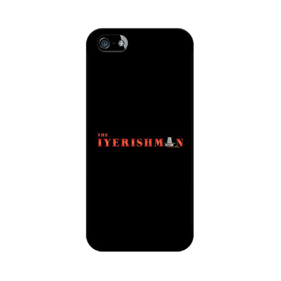 Iyerishman Phone Cover (Red Text) (Apple, Samsung, Vivo and OnePlus) - Madras Merch Market
