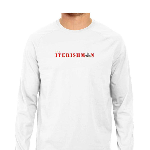 Iyerishman Full Sleeve T-shirt (Red Text) - Unisex - Madras Merch Market