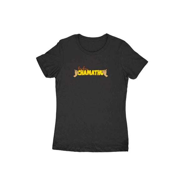 Lowkey Chamathu T-shirt (Yellow Text) - Women - Madras Merch Market