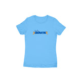 Lowkey Chamathu T-shirt (Blue Text) - Women - Madras Merch Market