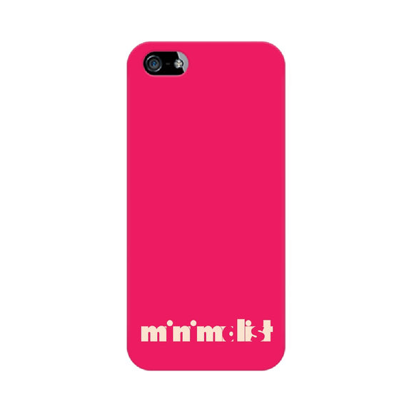 Minimalist Phone Cover (Cream Text) (Apple, Samsung, Vivo and OnePlus) - Madras Merch Market