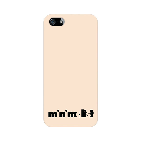 Minimalist Phone Cover (Black Text) (Apple, Samsung, Vivo and OnePlus) - Madras Merch Market