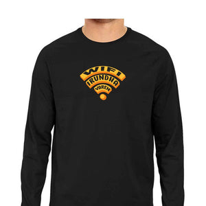 Wifi Irundha Varen Full Sleeve T-shirt (Orange Text) - Unisex - Madras Merch Market